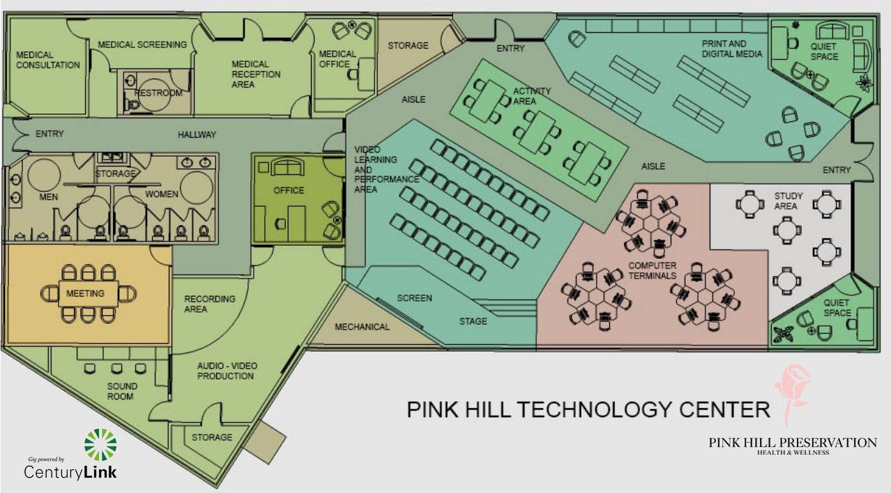 Recording studio online medical in plans for former pink for Media center plans